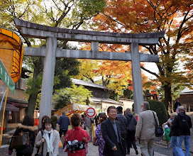 Photo: Fushimi Inari Shrine - pyhättöalue, ensimmäinen tutustumiskohteemme Kiotossa