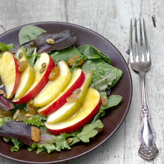 Apple and Pear Salad with Curry Vinaigrette