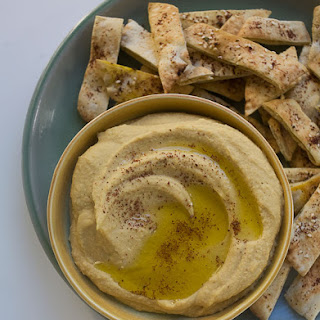 Winter Squash Hummus with Za'aatar Dusted Pita
