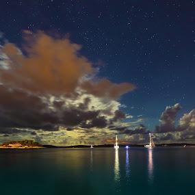 After the storm by Jaksa Kuzmicic - Landscapes Waterscapes ( stars, croatia, sea, cloud, hvar, storm )
