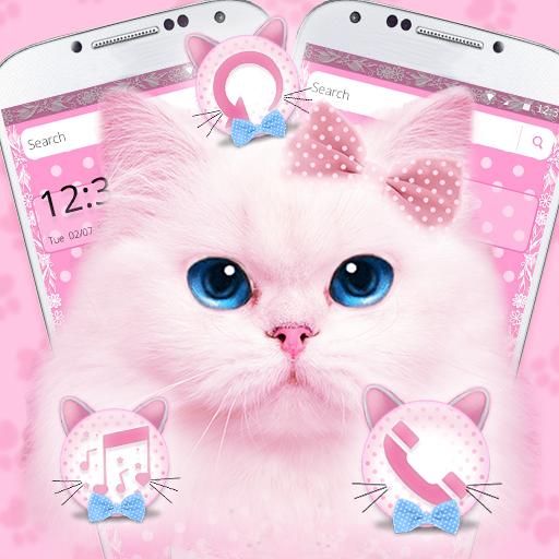 Lovely Pink Cute Kitty Cat Theme Izinhlelo Zokusebenza Ku Google Play