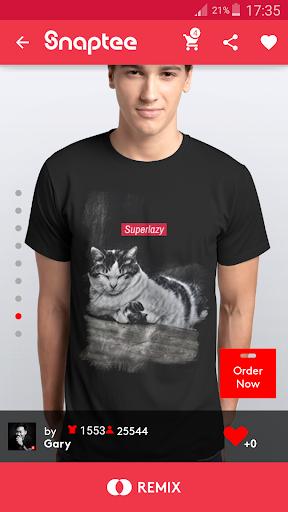T-shirt design - Snaptee 1.1.7.3 screenshots 1