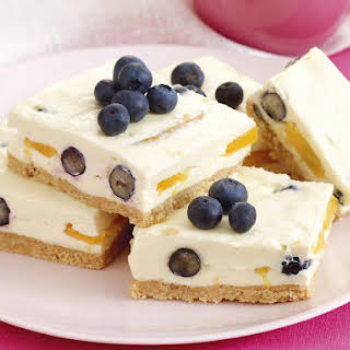 Peach and Blueberry Cheesecake.