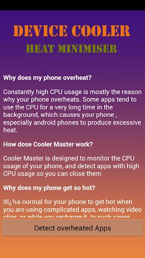 Device Cooler Heat Minimiser