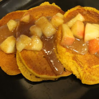 Pumpkin Pancakes With Spiced Apples
