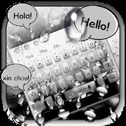 3D Live Rain Drops Keyboard Theme