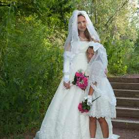 Erin and Grace 01 by Carter Keith - Wedding Bride ( rock the frock, bride, flower girl, trash the dress )