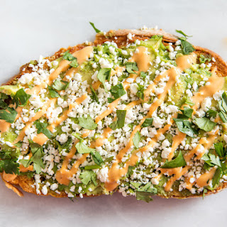 Avocado Toast with Chipotle Mayo, Cotija Cheese, Cilantro, and Lime Recipe