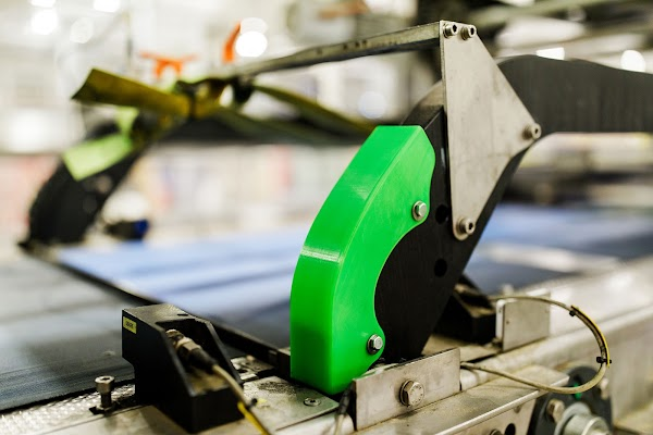 3D printed parts on a manufacturing machine