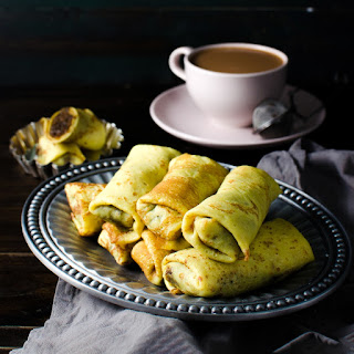 Sweet Coconut stuffed Crepes   Classic Pani Pol (Coconut Pancakes)
