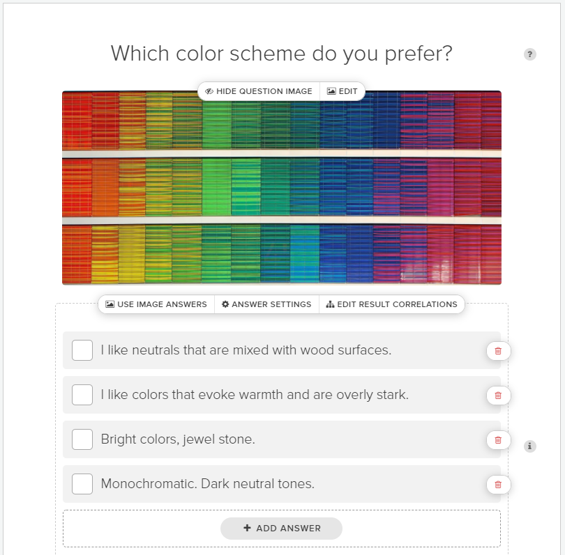 what color scheme do you prefer quiz question
