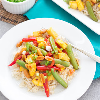 Spicy Kung Pao Stir-Fry with Summer Squash.