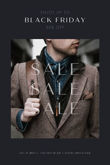 Men's Fashion Sale - Postcard Template