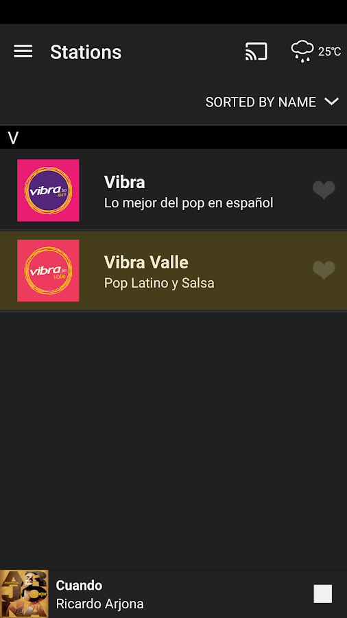 Vibra- screenshot