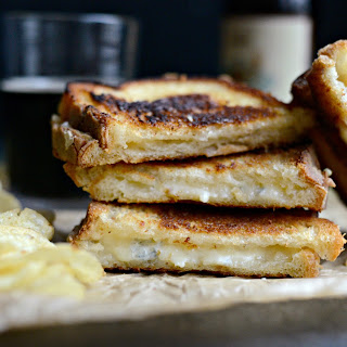 Fancy Three-Cheese Grilled Cheese Sandwich.