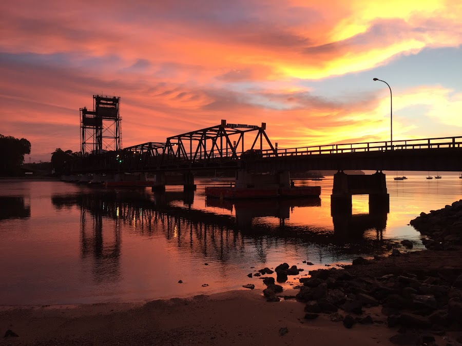Bridge at Dawn  by Christine Ralston - Buildings & Architecture Bridges & Suspended Structures