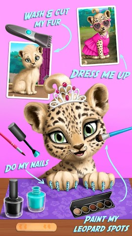 android Jungle Animal Hair Salon FULL Screenshot 1