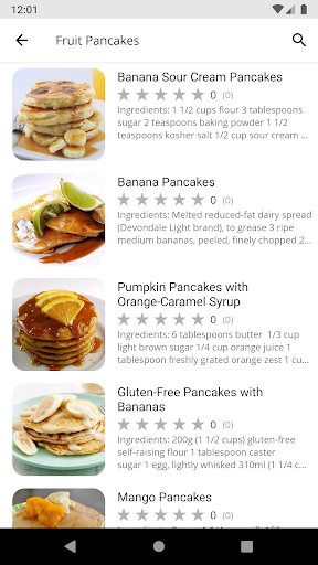Code Triche Pancake Recipes APK MOD (Astuce) screenshots 2