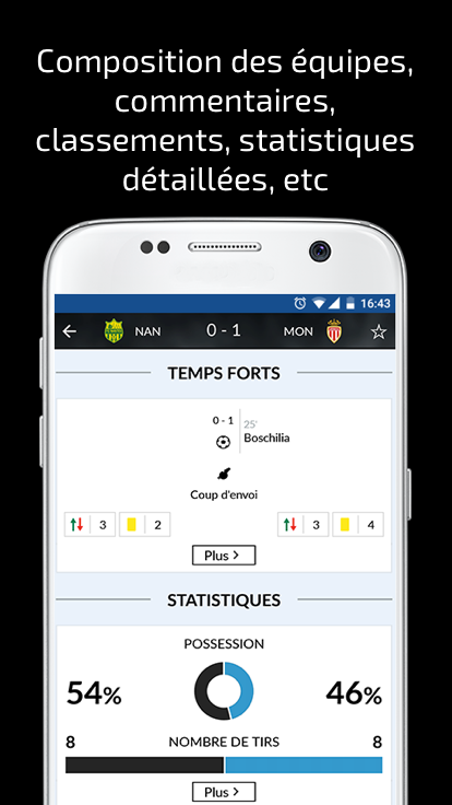 Résultats Foot en Direct- screenshot