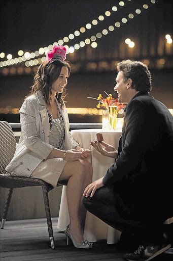 Jason Segel and Emily Blunt play a freshly engaged couple in the drawn out romcom 'The Five Year Engagement'