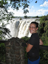 Photo: Holly looking out over the end of Victoria Falls