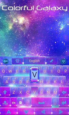 Colorful Galaxy Keyboard Theme 1.85.5.82 screenshot 189085