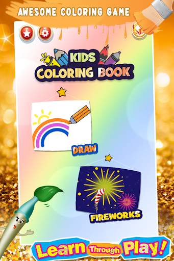 Glitter Number Coloring and Drawing Book For Kids 5.0 screenshots 1