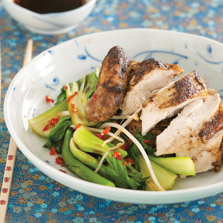 Chinese Five-Spice Chicken with Asian Greens
