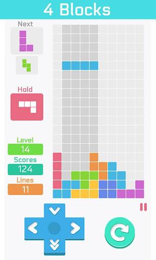 テトリスの古典 : 4 Blocks 無料