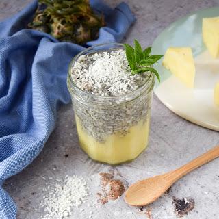 Vegan Pina Colada Chia Pudding.