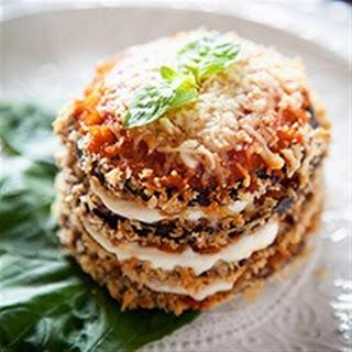 Crispy Eggplant Parmesan Stacks