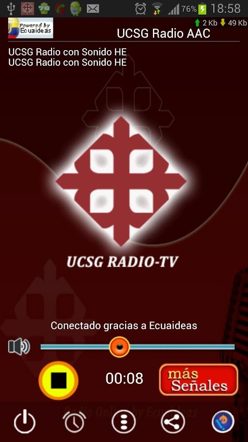 UCSG Radio y TV- screenshot