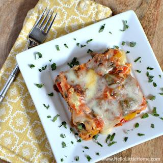 Easy Vegetable Crock Pot Lasagna