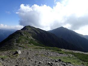 中岳と悪沢岳(東岳)
