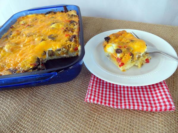 Momma Mia's Saturday Breakfast Casserole Recipe