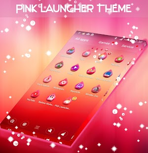 Pink Launcher Theme - náhled