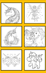 Unicorn Coloring Pages – Pony Coloring Book APK screenshot thumbnail 7
