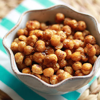 Pan-Fried Curried Chickpeas.