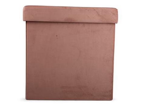 Förvaring sittlåda rosa 38x38x38