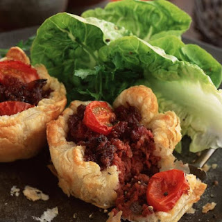 Corned Beef and Onion Tartlets.