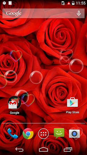 Red Rose Love Flower Free LWP