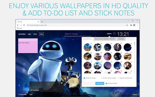 Wall E Wallpaper HD Wall E New Tab