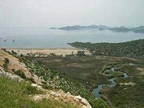 Photo: Andriake as seen from the road above .......... Andriake gezien vanaf de kustweg.