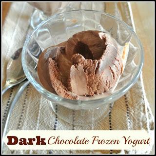 Dark Chocolate Frozen Yogurt.