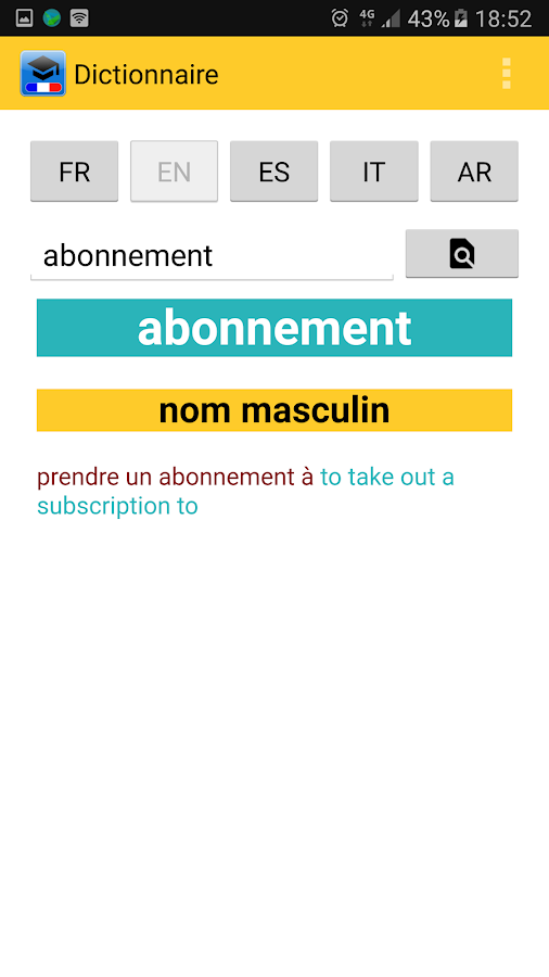 Le Dictionnaire- screenshot
