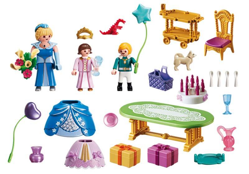 Contenido Real de Playmobil® 6854 Fiesta de Cumpleaños de la Princesa