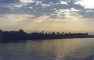 Photo: Cruising down the Mekong River to Angkor Wat.
