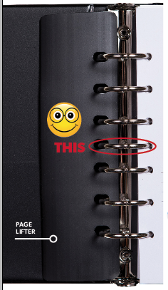 Let Family Know Keeper has a ring binder let you change out pages