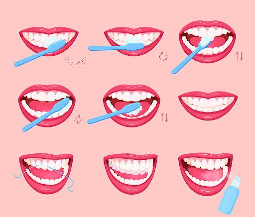 Pasos cepillar los dientes
