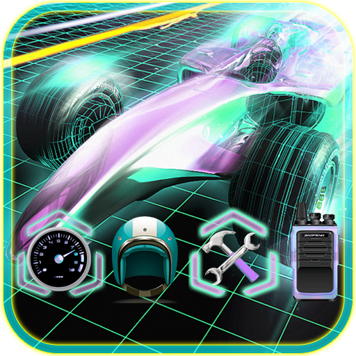 Neon Race Car Theme - Furious Race